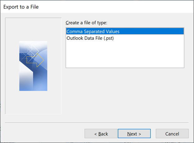 Some of the many ways to Export Outlook Contacts – Undocumented Features